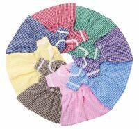 CHECKED SCHOOL DRESS BY FRILLY LILY FOR OUR GENERATION 18in  DOLL , MANY COLOURS
