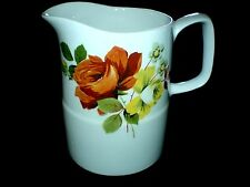 BRITISH ANCHOR CHARTWELL  Staffordshire Red / Yellow Roses Jug - 4 1/4 inch high