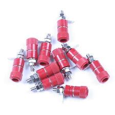 10pcs Red Binding Post for 4mm Banana Plug Power Supply Terminal Installation