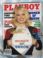 Playboy magazine August 2002 Christina Santiago Enron Tenison Twins