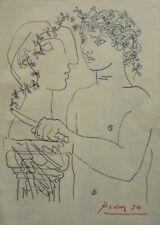 PABLO PICASSO   DRAWING   INK  ON PAPER -- SIGNED  -//// //-- --