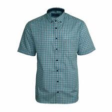 Eterna Herrenhemd Kurzarm Modern Fit Blau Weiß karo Business XL/44 2082/60/C243
