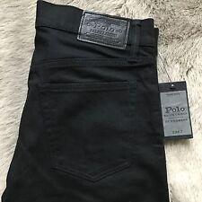Polo Ralph Lauren Mens Eldridge Super Slim Jeans Dungarees Stretch Black 30-30