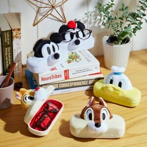 Mickey Minnie Chip Dale Donald Mascot Eye Glasses Stand Holder Case Japan E7090