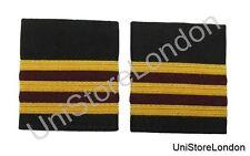 Epaulette 3 X1/4 inch Gold 2 Bars Maroon Airline Uniform Clothing R235