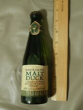 White Grape Malt Duck [Carling National] Glass Bottle w/ Paper Label & Cap EMPTY