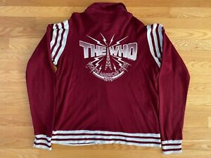 VTG RARE 1979 The Who North American Tour Crew Zip Up Track Jacket Sweatshirt!