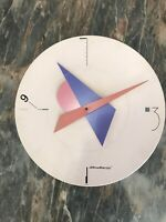 Vintage 1980's CANETTI Art Time Postmodern Memphis Era Clock