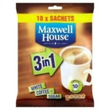 maxwell house 3 in 1 sachets Instant White Coffee + Sugar