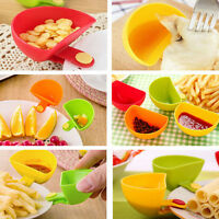 Kitchen Assorted Salad Sauce Ketchup Jam Dip Clip Saucer Cup Bowl Tableware HI