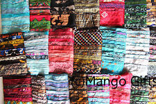Vintage Silk Sari Recycled Scarves Stoles Patchwork scarf Wholesale Lot 15 Pcs