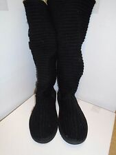 Original UGG Australia Classic Crochet Tall Boots UK 5.5 Euro 38.5 in schwarz