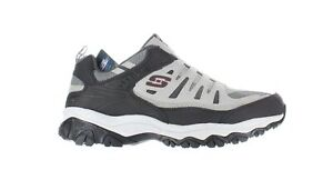 Skechers Mens Afterburn Gray/Black Hiking Shoes Size 12 (4E)