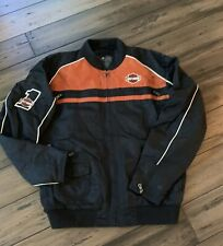 Harley Davidson Nylon #1 Racing Bar/Shield Motorcycle Jacket 98553-15VM  XLarge