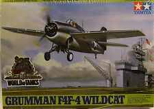 Wwii Us Navy Grumman F4F-4 Wildcat Tamiya 1:48 Scale Plastic Model Airplane Kit