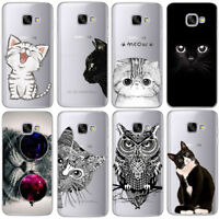 Cat Case For Samsung Galaxy S4 S5 S6 S7 Edge S8 Plus A3 A5 2016 2015 2017 etc ..