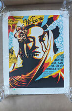 """Shepard Fairey """"Welcome Visitor"""" Aarvark Letterpress Print Signed and Numbered"""