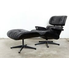 Charles & Ray Eames black Edition Lounge Chair & Ottomane for Vitra