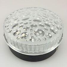 70er Jahre Lampe Leuchte Plafoniere Wandlampe Bleikristall Space Age Design 2v2