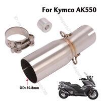 KYMCO AK550 ORIGINAL MUFFLER MIDDLE COVER CARBON
