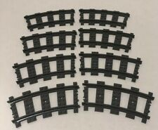 LEGO City 4520 9V Curve Train Track Lot of 8 Curved Track EUC Free Shipping