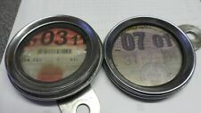 CLASSIC ORIGINAL TWO TAX DISC HOLDERS WITH OLD BSA TAX DISCS