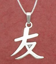 Best Friend Necklace Sterling silver Solid 925 Chinese Pendant and Chain BFF