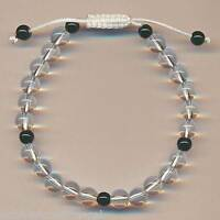 Armband Bergkristall Bracelet Schmuck (7mm) Nepal Bangle Pulsera 90g