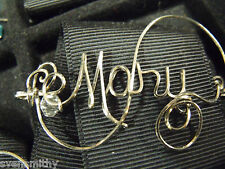 MARY Wire Name Pin  Handmade by USA Wireworker -OR ANY NAME Personalized
