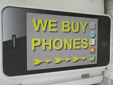 24x48 WE BUY PHONES Corrugated Plastic PROMO SIGN (For Smartphone Buyers) IPHONE