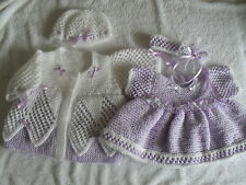 BABY OR REBORN   LACE DELIGHT DRESS & COAT KNITTING PATTERNS O