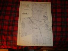 HINSDALE BERKSHIRE COUNTY MASSACHUSETTS ANTIQUE MAP NR
