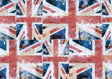 Union Jack Patterned Self Adhesive Decorative Wall Border - 5m - Flag Print
