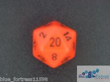 CHESSEX opaque 34mm D20 JUMBO DICE ORANGE & BLACK MTG