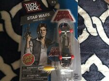 Tech Deck Santa Cruz Star Wars Han Solo 2 of 7 W/ Stand & Sticker Nip