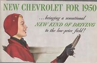 [61056] 1950 CHEVROLET NEW MODELS (STYLELINE & FLEETLINE SERIES) BROCHURE
