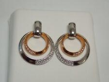 Fashion Dangling Diamonds Earrings on 14K Two Tone Gold by Allura