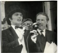 UK, London, Reginald Calvert, boss of Radio City off Whitstable  Vintage silver