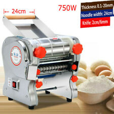 110V Commercial Electric Pasta Maker Dough Roller Noodle Machine 2mm/6mm Knife