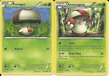 Pokemon Cards: Amoonguss 10/101 & Foongus 6/101 Noble Victories Evolution! NM
