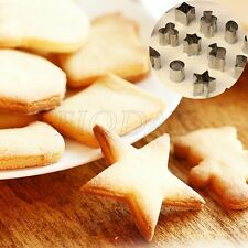 15 Styles Stainless Steel Cake Biscuit Cookie Cutter Mold DIY Baking Pastry Tool