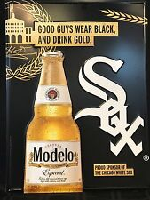 Collectible Advertising Modelo Cerveza Beer & Chicago White Sox MLB Pub Tin Sign