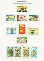 Seychelles 1970 - 3 Set Collection - See Writeup - SC 272-283 [SG 280-291] MINT
