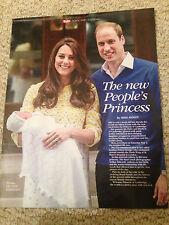 GLOSSY UK MAGAZINE MAY 2015 KATE MIDDLETON GIVES BIRTH TO ROYAL BABY CHARLOTTE