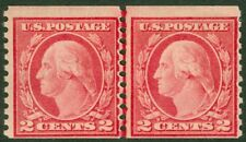 Edw1949Sell : Usa 1915 Scott #455 Type Iii Line pair. Mint Nh. Catalog $105.00.
