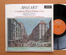 LXT 6050 Mozart Complete Wind Music Vol. 1 Brymer London Soloists NM/EX Decca