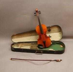 Alte Geige Violine in Originalkasten mit Bogen - Hamma und Cie Italien Zithern