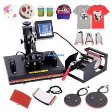 8 In 1 Heat Press Machine Transfer Sublimation T-Shirt Mug Hat Plate 15x12 inch