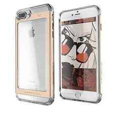 iPhone 8/7 Plus Case Ghostek Glass Foil Aluminum Frame Cloak 2 Hard Cover Gold