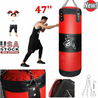 Heavy Boxing Punching Bag Fight Karate Training Kicking MMA Fitness Empty